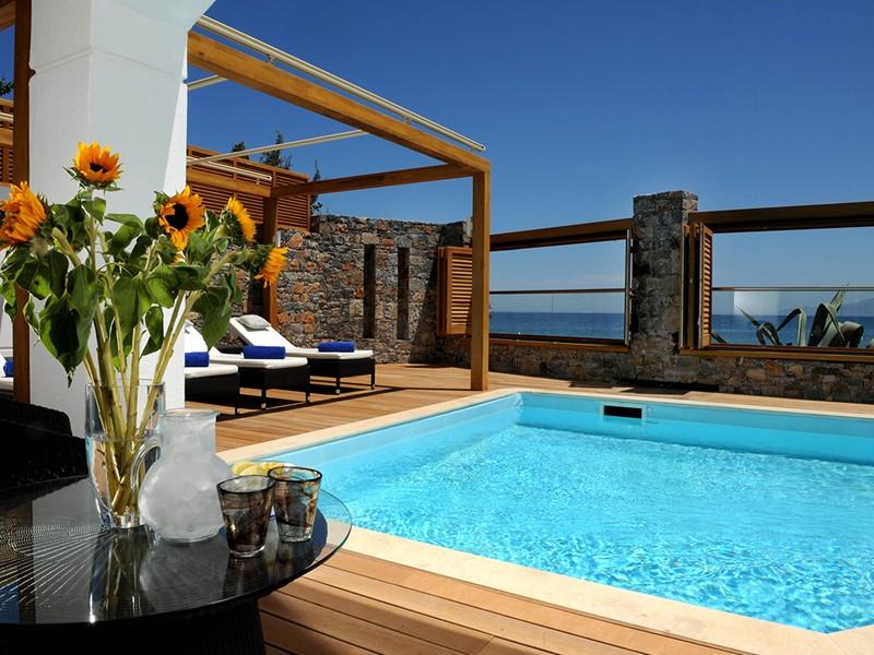 La superbe piscine de la Creta Maris Pool Villa