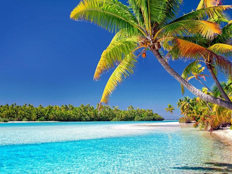 Le lagon scintillant au coeur du Pacifique