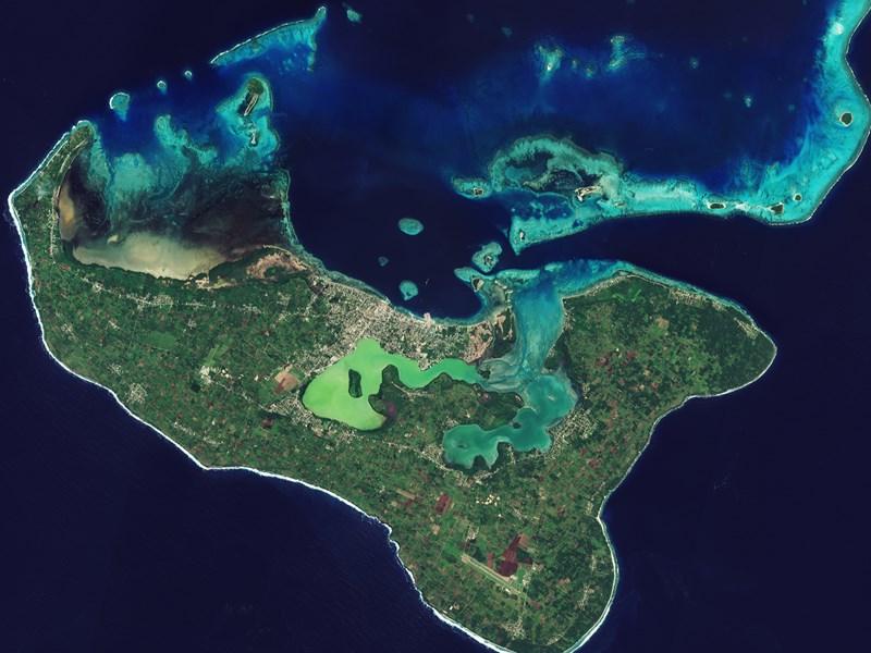 Vue aérienne sur les Tonga
