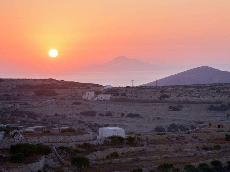 Coucher de soleil à Folegandros
