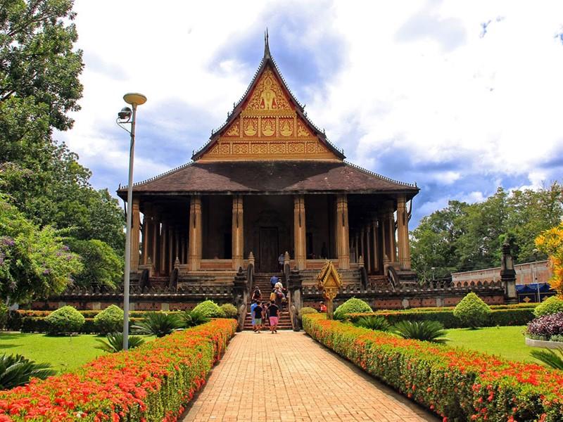 Le fameux Wat Phra Keo, qui abritait autrefois le Bouddha d'Emeraude