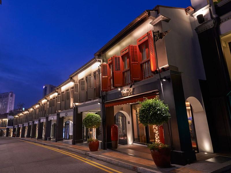 Vue du Scarlet Singapour situé près du quartier de Chinatown