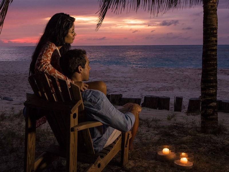 Magnifique coucher de soleil à l'hôtel Denis Private Island