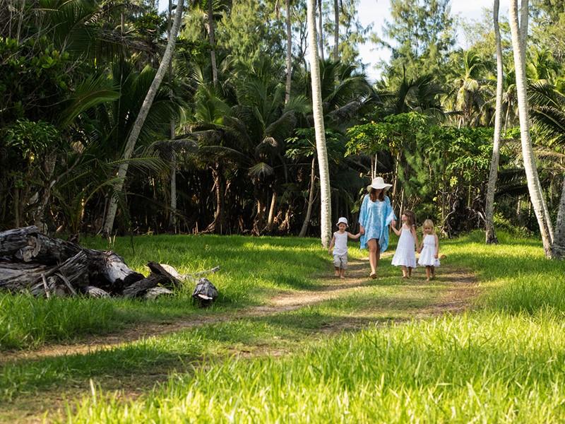 Balade en pleine nature à l'hôtel Denis Private Island