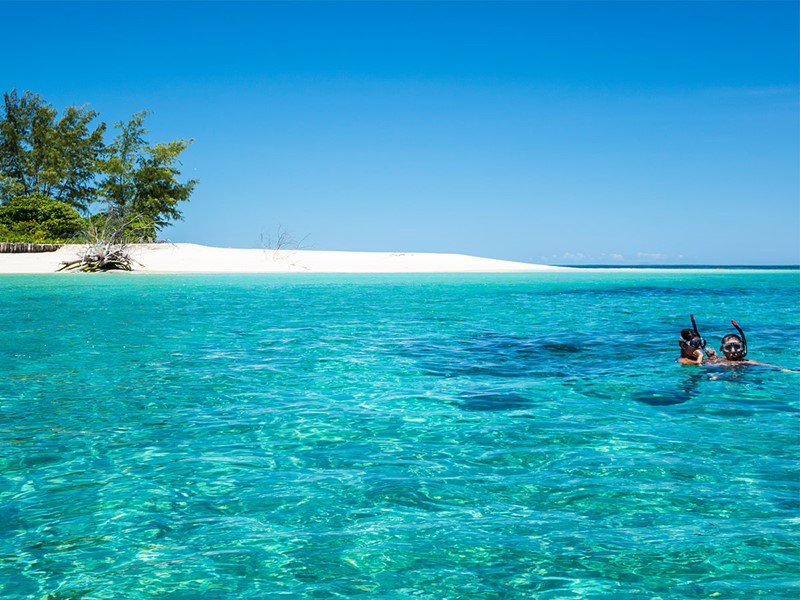 Snorkeling à l'hôtel Denis Private Island aux Seychelles