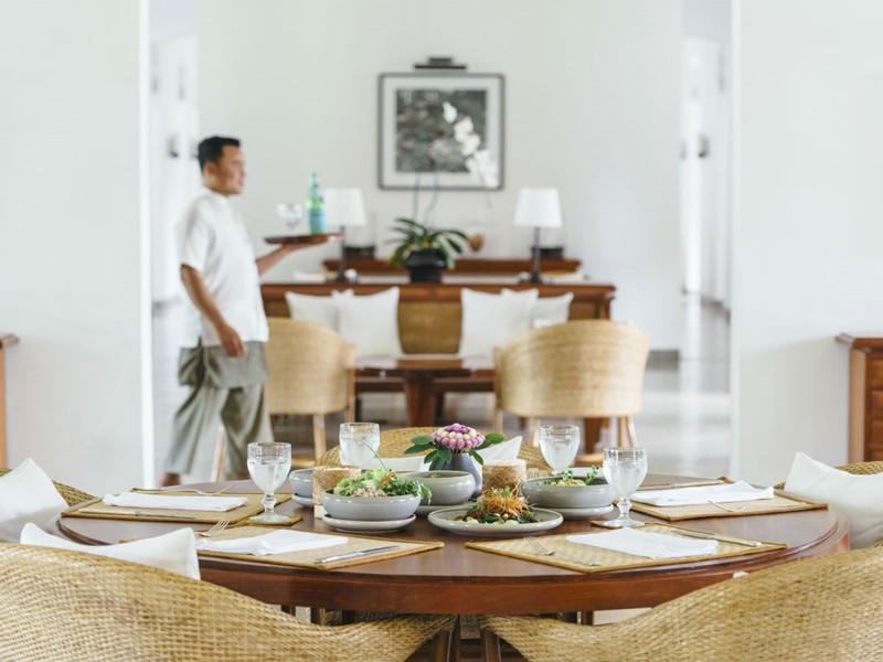 La salle à manger de l'Amantaka