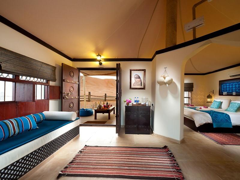 La Deluxe Tented Suite du Desert Night Camp situé au sultanat d'Oman