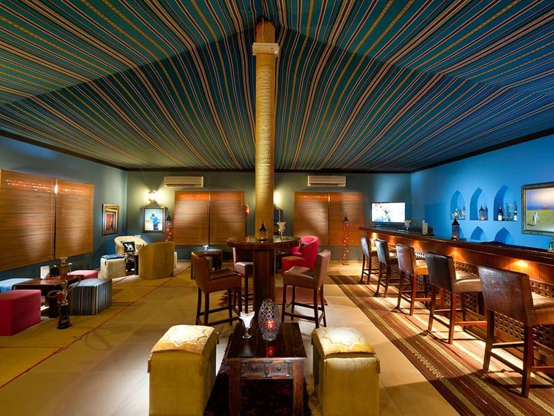 Le bar du Desert Night Camp au sultanat d'Oman