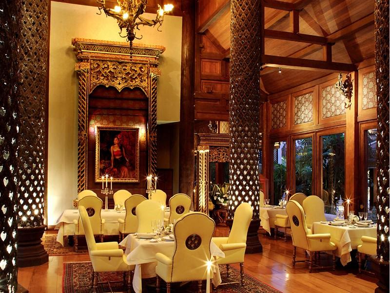 Restaurant Farang Ses de l'hôtel de luxe Dhara Dhevi en Thailande
