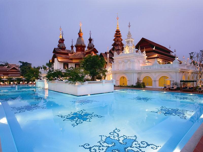 La piscine de l'hôtel Dhara Dhevi en Thailande
