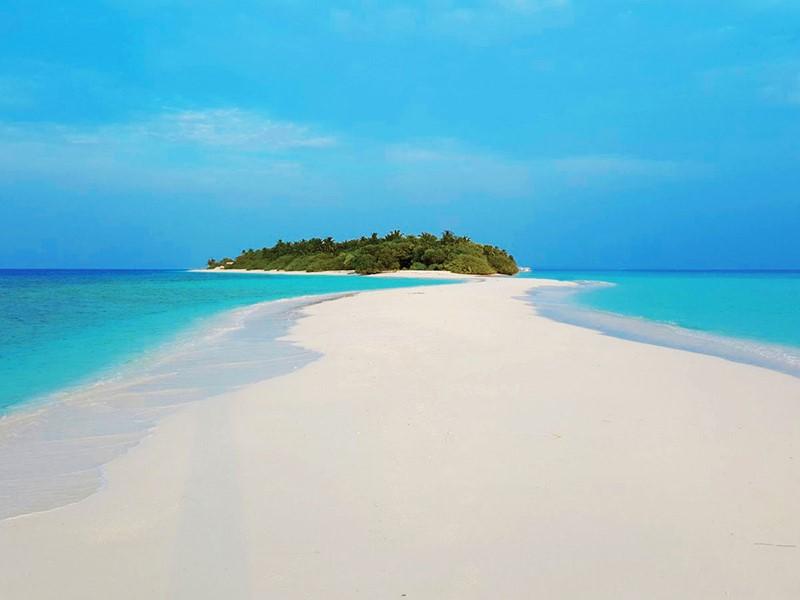 Magnifique banc de sable du Dhigali Maldives
