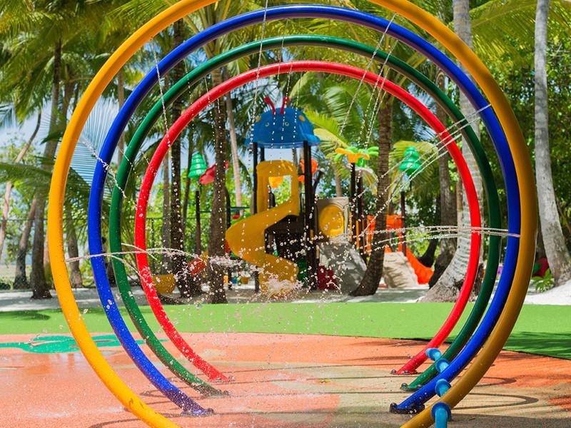 Le coin enfants de l'hôtel Dhigali aux Maldives