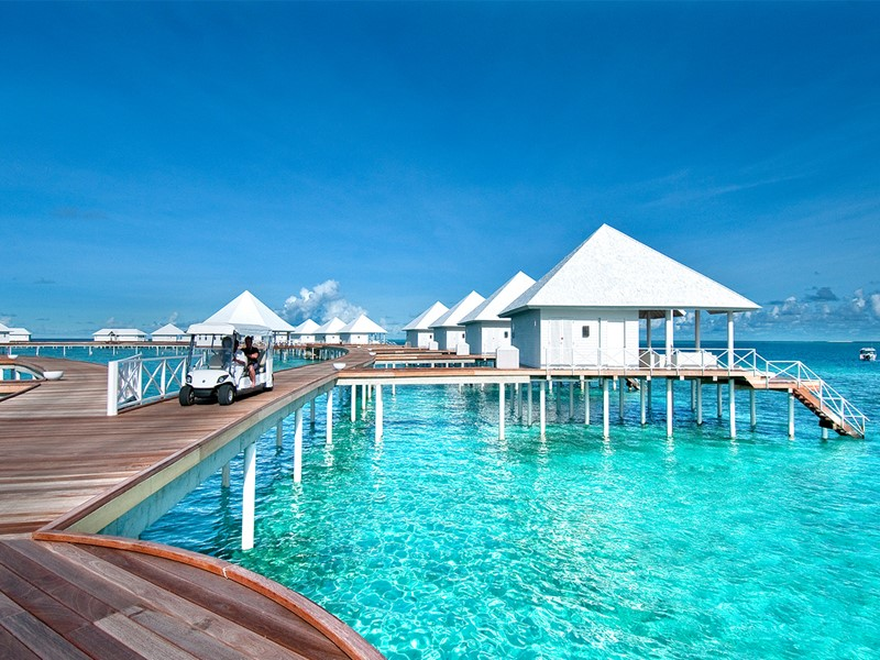 Vue des Water Villas du Diamonds Thudufushi Beach and Water Villas