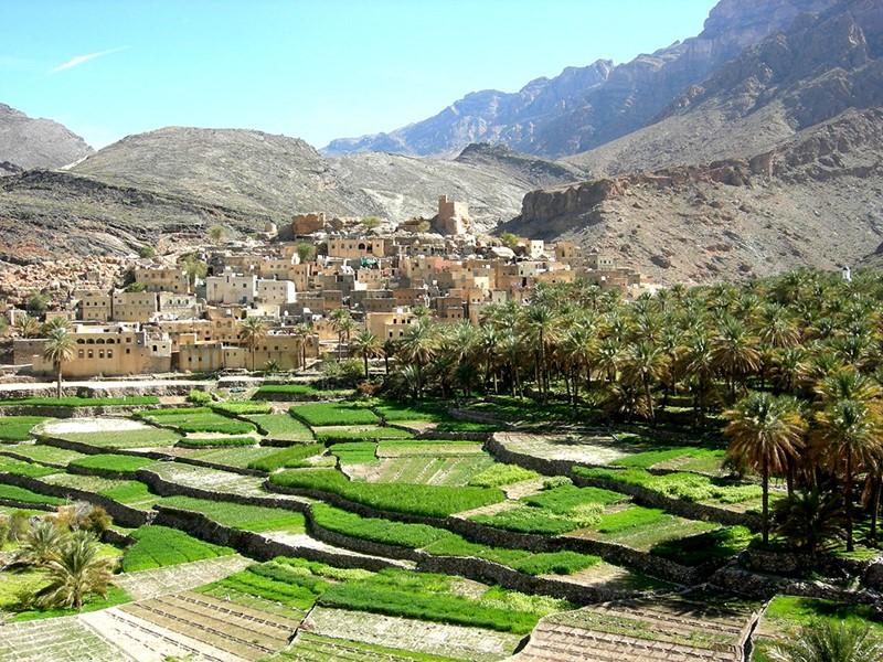 Nakhal, ville réputée pour ses sources chaudes