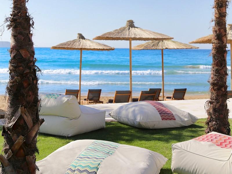 Détendez vous sur la plage du Domes Noruz en Crête