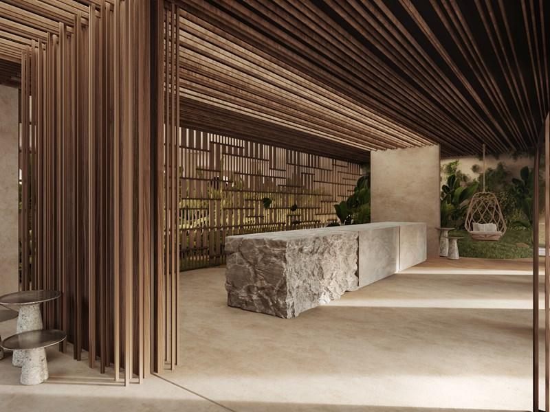 Un hôtel design, ou les éléments naturels sont vecteurs