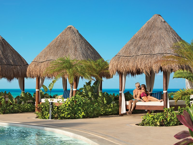 Détente à l'ombre au Dreams Playa Mujeres au Mexique