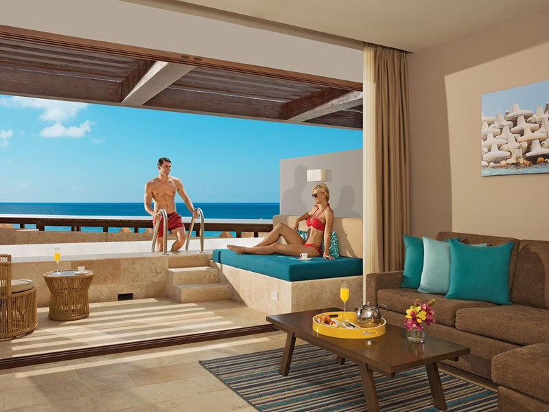 Preferred Club Junior Suite Swim Out Ocean View du Dreams Playa Mujeres