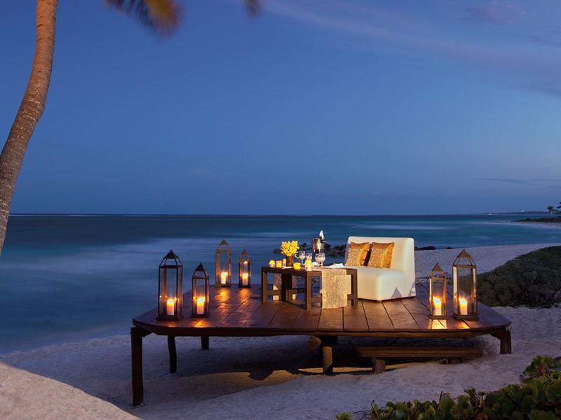 Dîner romantique à l'hôtel Dreams Tulum Resort & Spa