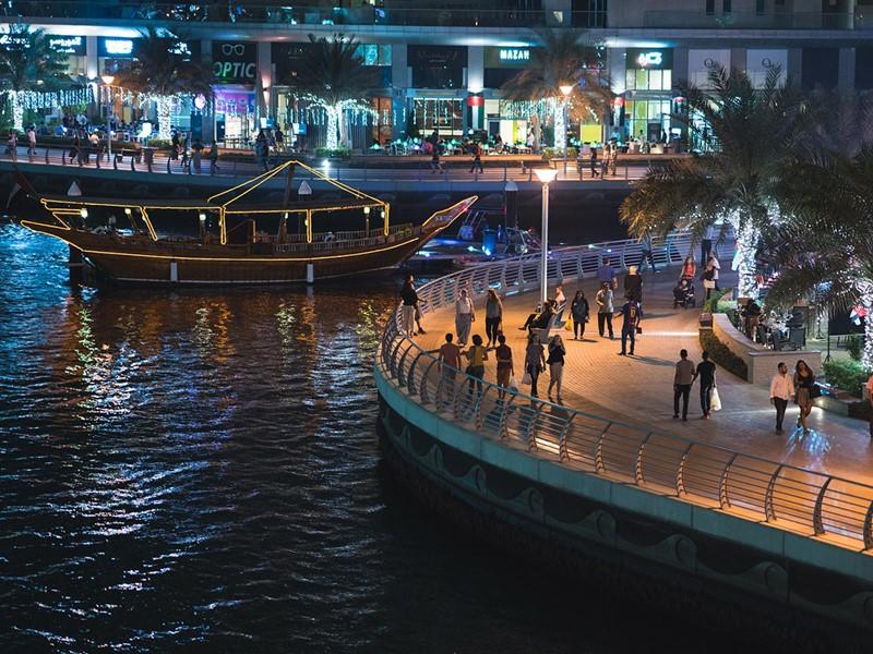 Le centre de Dubaï