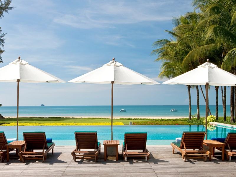 La piscine du Dusit Thani Krabi Beach Resort en Thailande