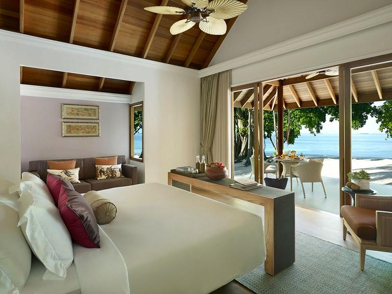 Beach Villa de l'hôtel Dusit Thani aux Maldives