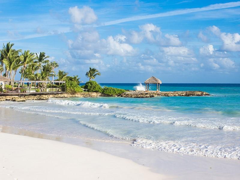 La superbe plage de l'hôtel Eden Roc at Cap Cana