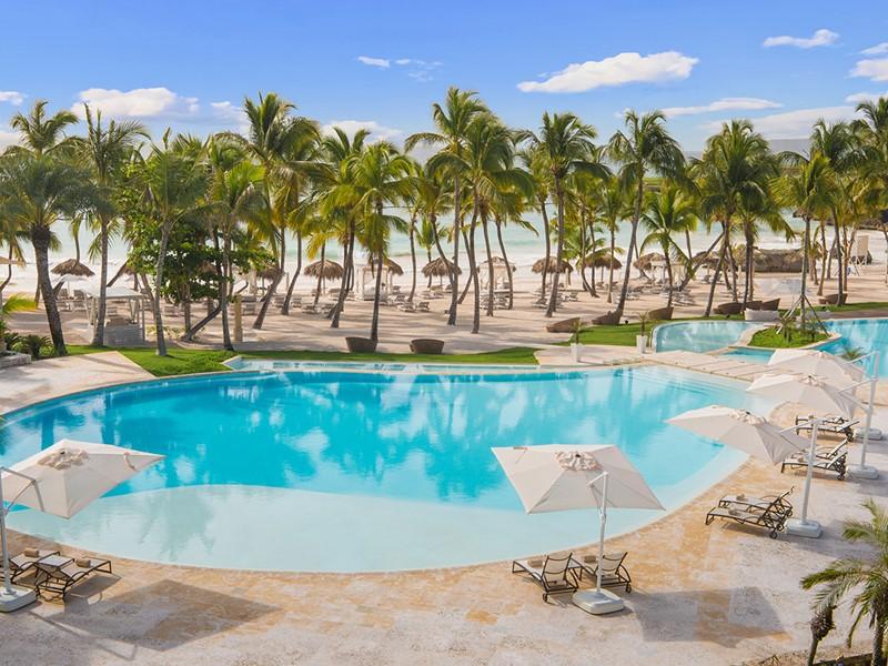 La piscine de l'Eden Roc at Cap Cana à Punta Cana