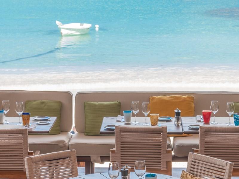 Le Sand Bar Restaurant et sa vue sur la plage
