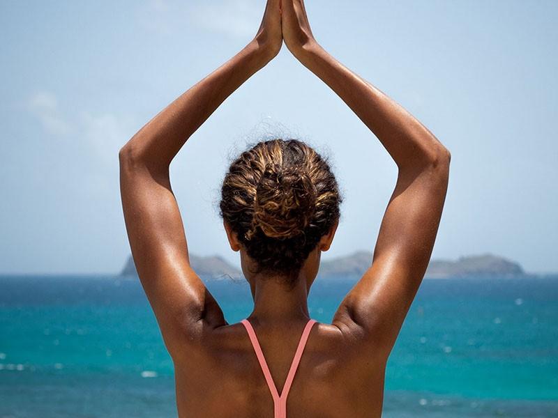 Yoga à l'hôtel Eden Rock sur l'île de Saint-Barthélémy