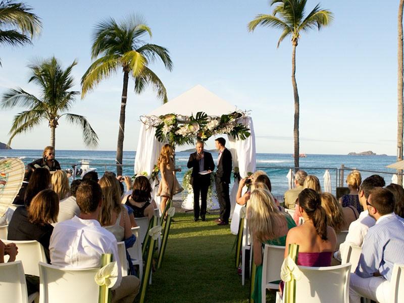 Mariage à l'hôtel Eden Rock à St Barth