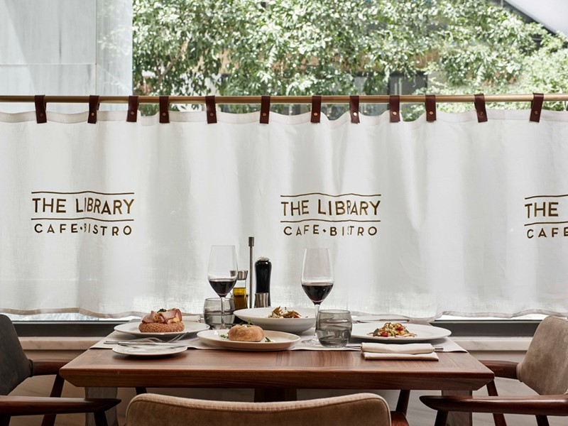 Cuisine méditerranéenne au Library Bistro