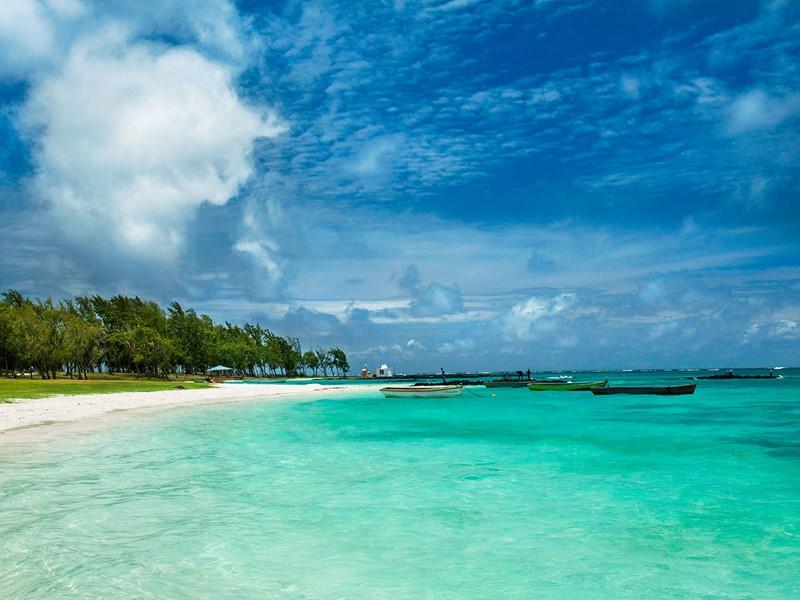 Les eaux translucides de l'Océan Indien