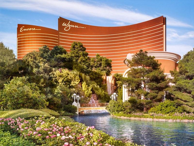 Vue de l'Encore at Wynn Las Vegas, situé au cœur du Strip.
