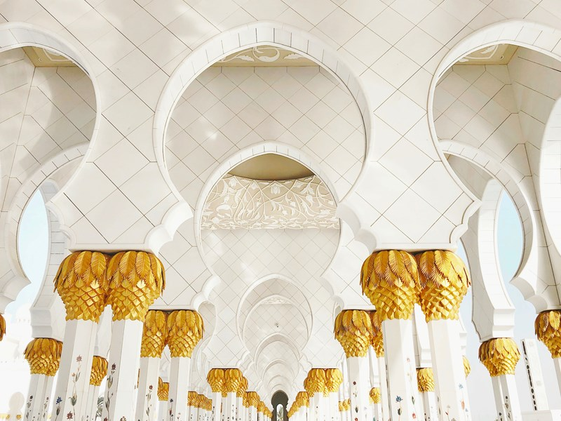 La superbe mosquée Sheikh Zayed
