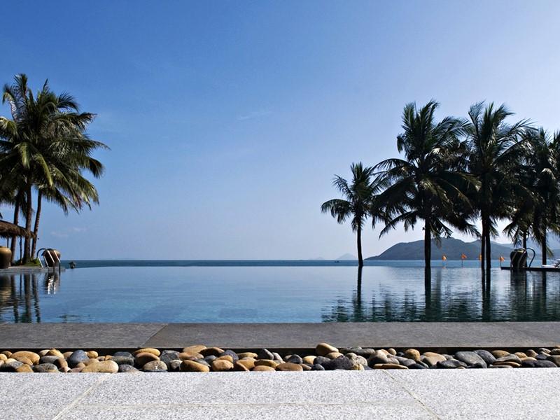 La superbe piscine de l'hôtel Evason Ana Mandara