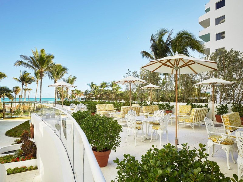 Le terrasse du restaurant Pao by Paul Qui du Faena Hotel