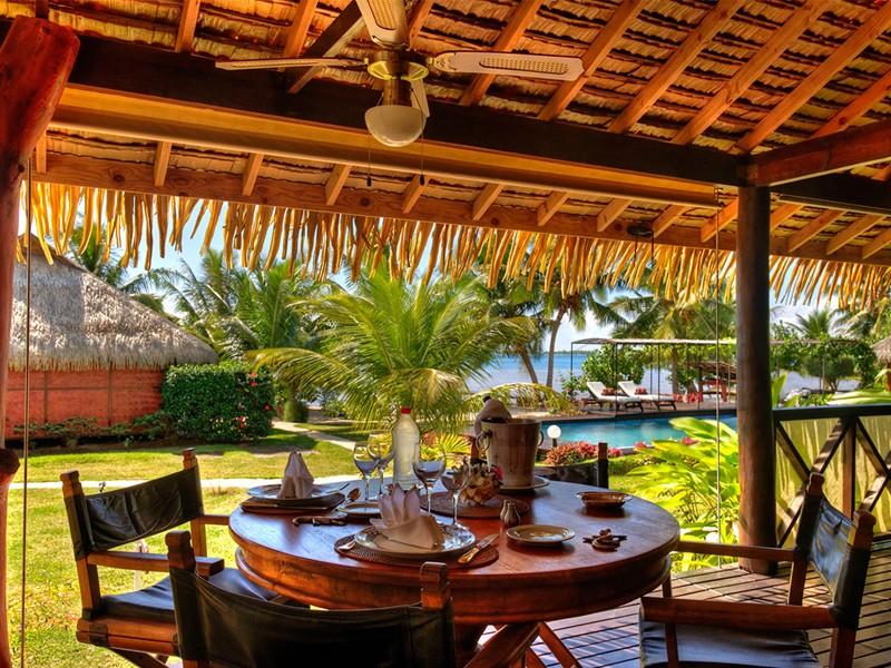 Le restaurant du Fare 3 étoiles Pea Iti Tahaa situé en Polynésie