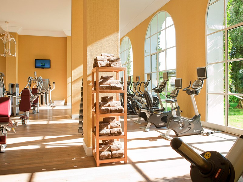 La salle de sport de l'hôtel Finca Cortesin Golf & Spa