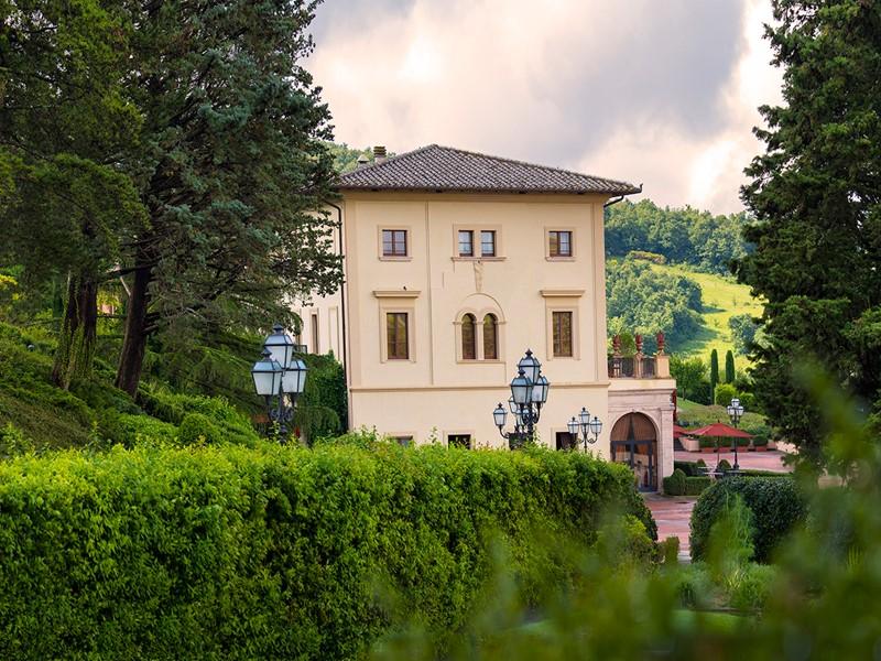 La façade du Fonteverde, ancienne demeure de la famille Médicis