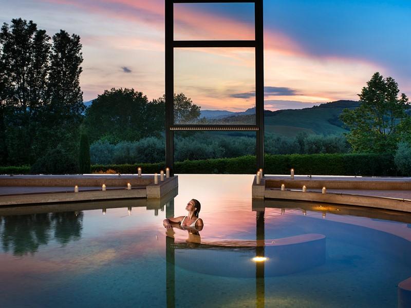 La piscine thermal du Fonteverde Natural Spa Resort