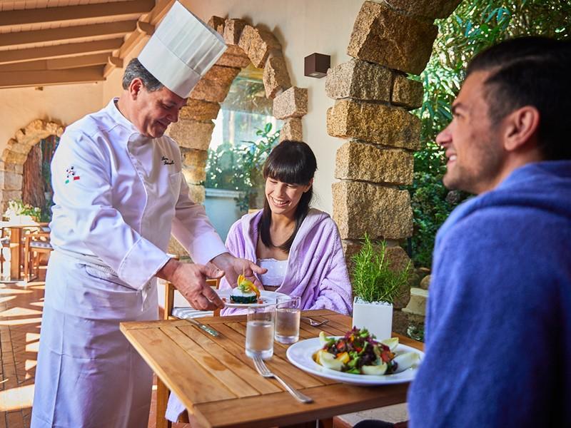 Le restaurant du spa Acquaforte du Forte Village