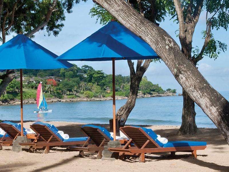 Plage de l'hôtel Four Seasons Jimbaran à Bali