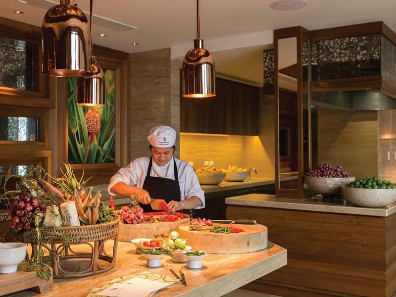 Le chef à l'oeuvre à l'hôtel Four Seasons Koh Samui