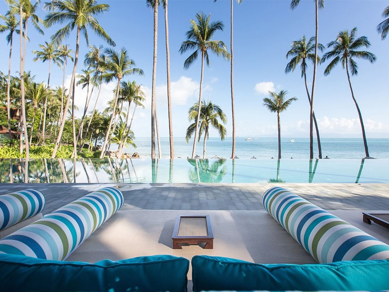 La piscine du Four Seasons Koh Samui en Thailande