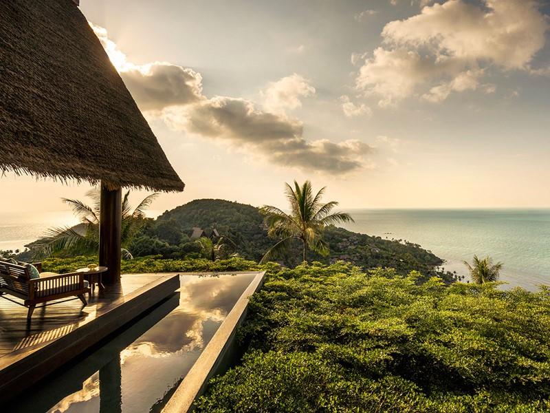 Le Four Seasons Koh Samui offre de magnifique couchers de soleil
