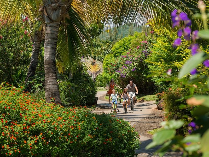 Balade à vélo à l'hôtel Four Seasons à l'Ile Maurice