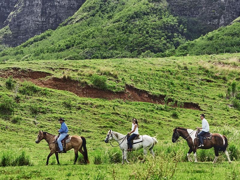 Profitez d'une balade à cheval au Ranch Kualoa
