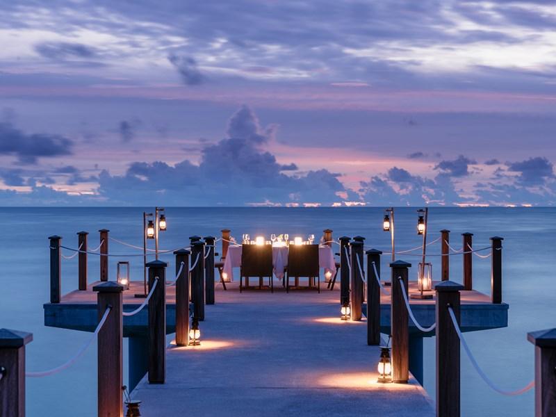 Somptueux dîner sur le ponton