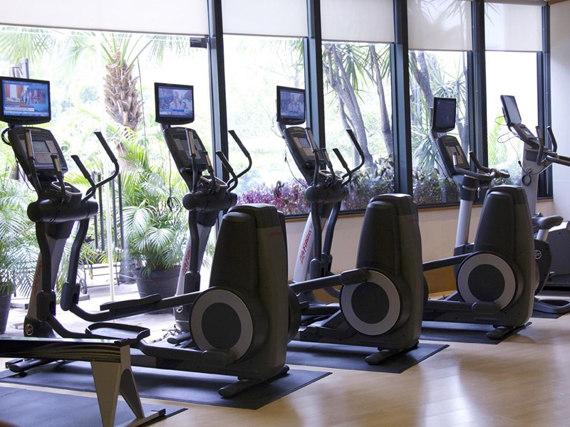 La gym de l'hôtel Four Seasons à Singapour